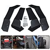 Extended FenderFlares MudFlaps Compatible with Polaris RZR S900 RZR S10002015-2019 RZR S 4 900 2015-2016 UTV Front & Rear Mud Guards - Set of 4
