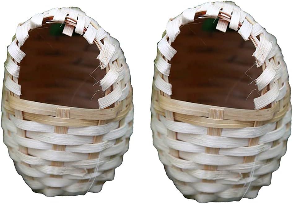 N\C 2 Pcs Sizes Bird Direct sale of manufacturer Nest Garden Finches Handmade Canar Birdcage Ranking TOP10