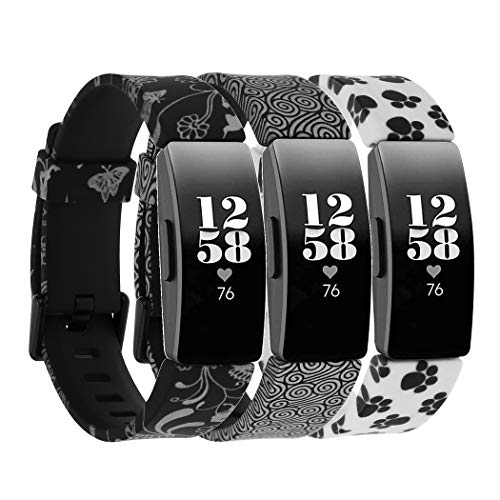 Baaletc Compatible para Fitbit Inspire & Inspire HR/Ace 2 Correas Mujeres Hombres, Soft Silicona Deportes Pulseras Reemplazo Band Compatible para Fitbit Inspire HR Strap