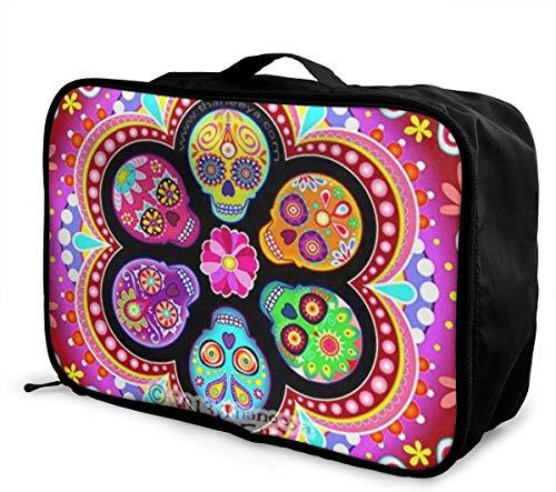 Flamingo Travel Luggage Storage Bag Duffel Bag Handle Makeup Bag Fashion Lightweight Large Capacity Portable Luggage Bag