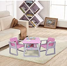 Sweetcity Kids Table and Chairs Set Toddler Activity Chair Tables Activity Furniture Toy ~ Yael