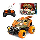 Dinosaur Toys for Kids 3-5,Monster Trucks for Boys,4-Channel Electric Off-Road Climbing Car Toys for 3 Year Old Boys Car ,1/43 Scale Remote Control Car for Girls 3-7, Toddlers Gifts