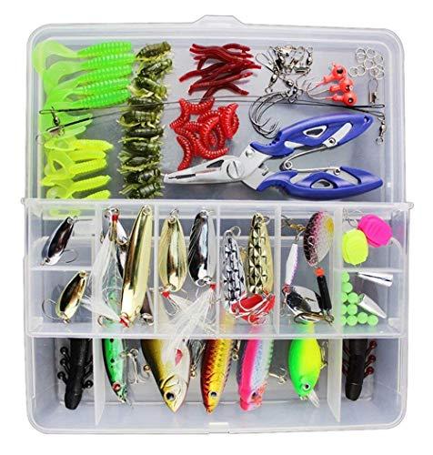 Vicloon Leurres de Pêche Kit 120pcs -...