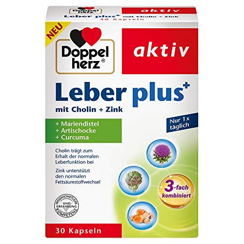 Doppelherz Leber plus – Mit Cholin als Beitrag zum Erhalt der normalen Leberfunktion sowie eines normalen Fettstoffwechsels – 30 Kapseln