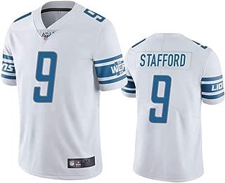 Men's Detroit Lions #9 Matthew Stafford Light 100th Season Vapor Limited Jersey