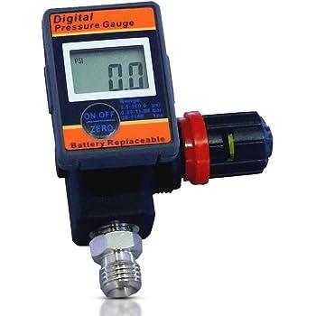 LE LEMATEC DAR03B Digital Airflow Regulator with Locking Adjustment Valve for All Air Tools and Compressors