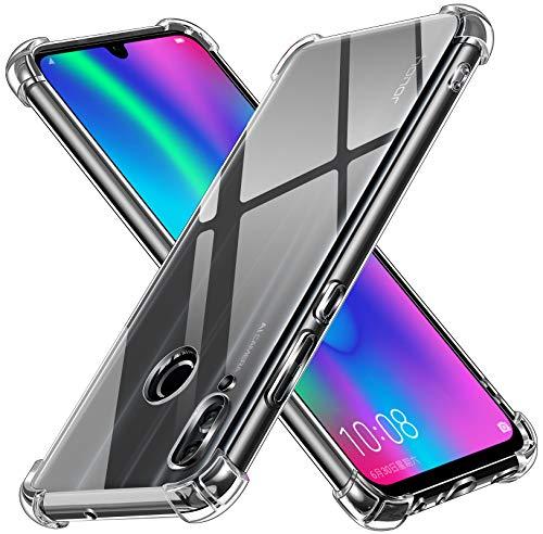 ivoler Funda para Huawei P Smart 2019 / Honor 10 Lite, Carcasa Protectora Antigolpes Transparente con Cojín Esquina Parachoques, Flexible Suave TPU Silicona Caso Delgada Anti-Choques Case Cover
