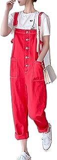 KUBIRA(クビラ) オーバーオール オールインワン サロペット レディース ロングパンツ デニム デニムジーンズ レッド ピンク グリーン 赤 緑 桃色 1906c1075