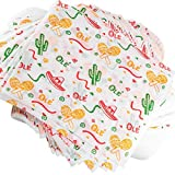 Fun, Fiesta Style 12in Deli Paper 250 Ct. Greaseproof, Microwave-Safe Mexican Themed Tissue Great for Burrito Wrappers or Nacho Basket Liners. Southwest Party Supplies for Cinco de Mayo Celebration