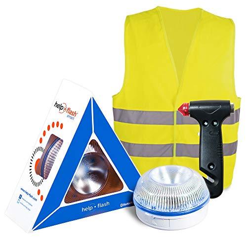 HELP FLASH SMART PK2772 luz AUTÓNOMA señalización Peligro/Linterna, DGT, V16 AUTOMÁTICA +...