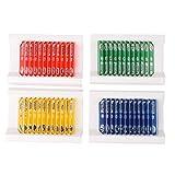 Objektträger, dünn und gleichmäßig, 48 Stück 4 Farben Mikrobiologische Bakterienproben Biologie...
