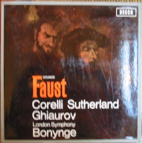 Antiguo disco - Old Vinyl: GOUNOD:FAUSTO.OPERA EN 5 ACTOS.DIRECTOR:RICHARD BONYNGE.LIBRETO DE JULES...