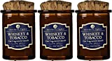Northern Lights Candles Whiskey and Tobacco Spirit Candle, 5 oz .3 Pack