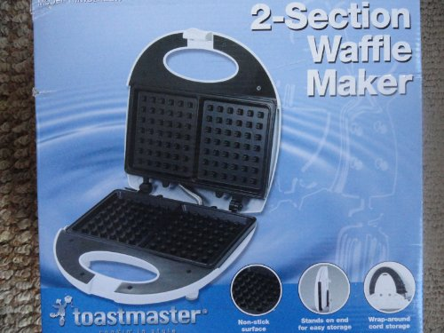 Toastmaster 2-Section Waffle Maker TMWB2REGW