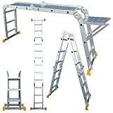 Abbey Aluminium Multi-Purpose Ladder 3.4m with New Safety Platform MPL34