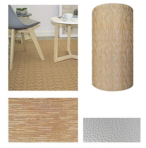 Comercial Candela Alfombra de Pasillo de Textil Resinado Antimanchas, Lavable   Base PVC Antideslizante y Aislante Diseño Lluvia Color (Beige, 52_x_250 CM)