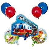 JSJJARD Globos Niños 1pc vehículo de Serie Feliz Cumpleaños Globos Partido decoración del Tanque de la Motocicleta Regalo del bebé vagón de Tren de Camiones contra Incendios (Color : Camouflage)