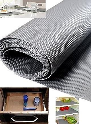 Home Buy, 1 Piece Useful and Multipurpose Full Length 5 Meter (45 X 500) Anti Slip Grip, Non Slip Liner, Skid Resistant Mat, Material PVC. Color: Gray