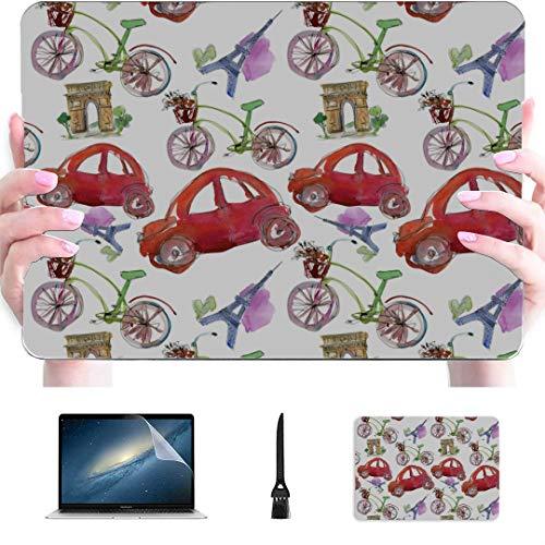 13inch MacBook Air Case Paris Landmark Eiffel Tower Arc De Triomphe Plastic Hard Shell Compatible Mac Air 13' Pro 13'/16' 15 Inch Laptop Cover Protective Cover for MacBook 2016-2020 Version