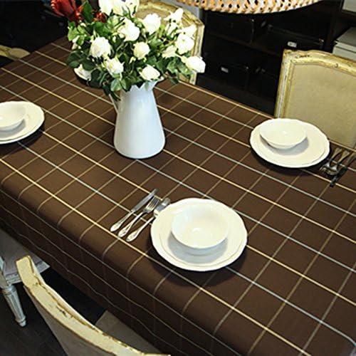 Tablecloth WERLM Nappe Simple Coton, Nappe à voiturereaux Marron Nappe Restaurant Cuisine Nappe, 140  220cm