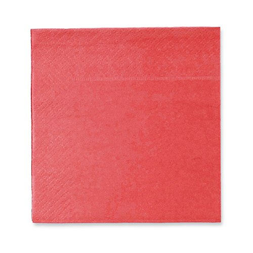 Cocktail Napkins - 200-Pack Disposable Paper Napkins, 2-Ply, Coral Pink, 5 x 5 Inches Folded