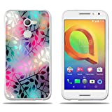 Coque Alcatel A3, FUBAODA [Verre Semi Perméable] Transparent Silicon Transparent TPU Contemporain Chic Mode Minimaliste...