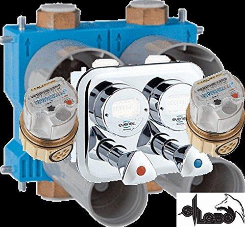 Unterputz Wasserzähler Montageblock WS - komplett 3/4