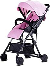 WRJY Cochecito de bebé Sillas de Paseo Cochecitos para niños Asiento Plegable portátil Ligero para niños 0-3 años Carro para niños (Color: Azul), Rosa (Color: Rosa)
