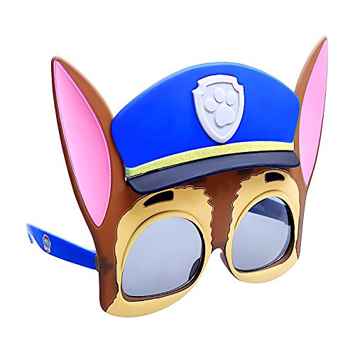 Sun-Staches Costume Sunglasses Chase Paw Patrol Party Favors UV400 Multi-colored, 8