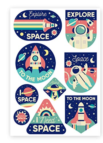 YUHANG Astronauta de Dibujos Animados Personalidad Pegatina Espacio cósmico Maleta Maleta portátil Pegatina Impermeable