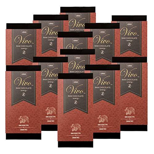 12枚セット ローチョコレートVivo エナジー マカ配合 生カカオ70% 砂糖・乳製品は一切不使用 生チョコレート ※賞味期限:2021/06/13