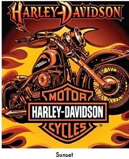Harley Davidson-Sunset Queen Blanket
