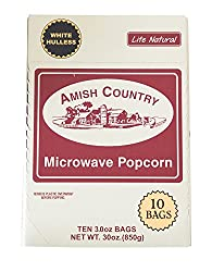 Amish Country White Hulless Microwave Popcorn Bag