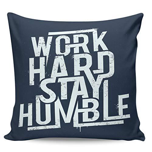Winter Rangers Fundas de almohada decorativas, diseño de eslogan inglés sobre póster azul, ultra suave, funda de cojín cuadrada cómoda para sofá dormitorio, 45,7 x 45,7 cm