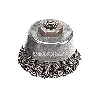 Pearl Abrasive Power Wire Brush CLWBK258 Knot Cup Wheel 2-3/4 x .020 x 5/8-11 with Tempered Wire