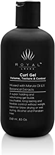 Royal Locks Curl Gel With Marula Oil   For Defining Wavy And Curly Hair   Ultra Hold   8.5 Oz