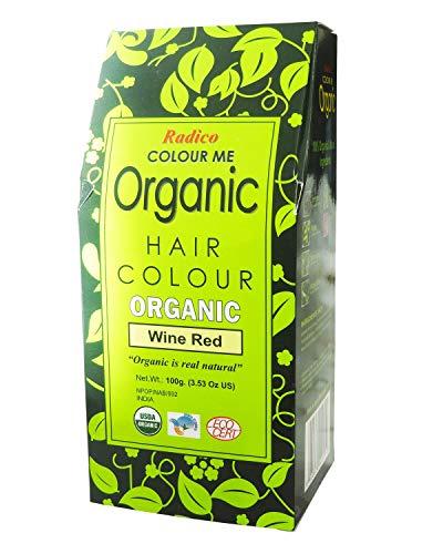 Radico - Poudre Colorante pour les Cheveux Vin Rouge - Couvre Cheveux Gris - Protège et Nourrit - Certifié par Ecocert - 100% Naturelle - 100 g