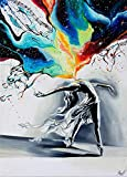 Paint by Numbers for Adults DIY Canvas Oil Painting Kit 16'Wx20'L Pictures Paintwork Drawing -Dancing Girl