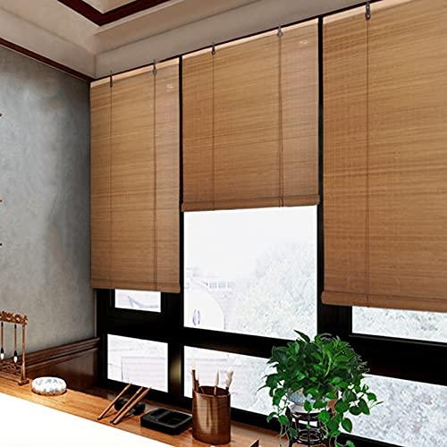 Tenda a Rullo in Bambù con Filtro, Cortina di Bambù per Pareti Divisorie per la Casa, Tapparella Avvolgibile Bambù di Dimensioni Personalizzabili con Accessori ( Size : 110cm x 190cm(43' W x 75'L) )