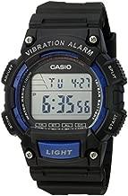 Casio Men's 'Super Illuminator' Quartz Resin Casual Watch, Color:Black (Model: W-736H-2AVCF)