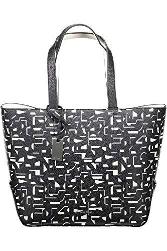 Calvin Klein Edit Medium Shopper Bolsa Black / Off White CK Print