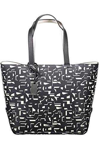 Calvin Klein Edit Medium Shopper Bolsa Black / Off White CK Print