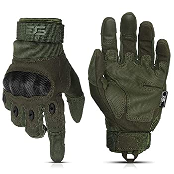 Glove Station The Combat Military Police Outdoor Sports Tactical Rubber Knuckle Gloves for Men Green Extra Large Size 1-Pair
