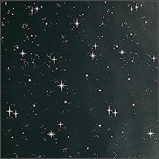 Black Starflakes Flat Paper, 47 Inches x 50 Feet