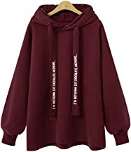 KCatsy Women Autumn and Winter Loose Hooded Long Sleeves Casual Hoodies