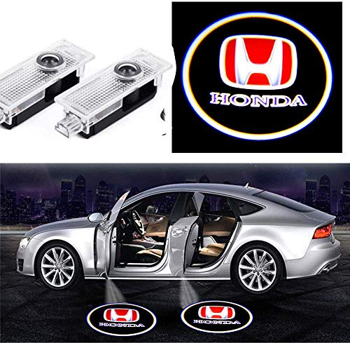 2Pcs Honda Car Door Lights Logo Projector, Honda Car Door Led Projector Lights, Upgraded Car Door Welcome Logo Projector Lights for Honda SPIRIOR UR-V VEZEL Avancier