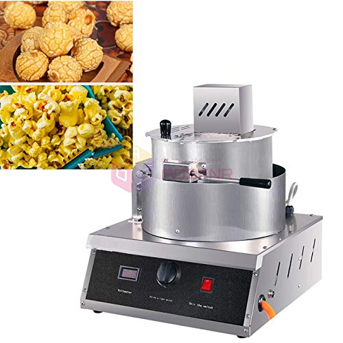 New Tool Parts Automatic Gas Popcorn Machine Single Pot Spherical Popcorn Maker Ball Stainless Steel...