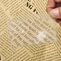 ZLinKJ 10 Pcs/Lot Portable Credit Card Size Magnifier Mini Magnifying Glass Loupe Reading Tool For Night Reading