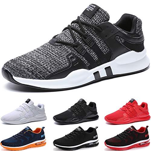 BAOLESEM Herren Sportschuhe Atmungsaktiv Gym Laufschuhe Leichtgewicht Turnschuhe Freizeit Outdoor Sneaker, 44 EU,2 Grau
