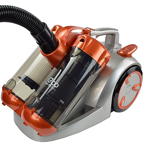 Syntrox Germany VC-2900W Doppel Cyclone Staubsauger Silber/Orange